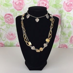 Brighton Deco Gold & Silver Long Necklace & Anklet